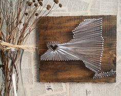 Texas String Art State String Art Texas Nail by witheyesunlocked