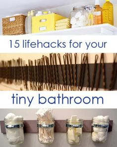15 Lifehacks for Your Tiny Bathroom | so excited that I found this! We are remodeling now and I'm so doing some of these !