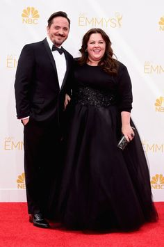 Pin for Later: The Small Screen's Hottest Stars on the Emmys Red Carpet! Melissa McCarthy and Ben Falcone