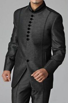Men Indo Western Formal Jacket Slim Wedding Blazer Trouser Tuxedo Coat Pant Suit
