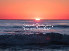 sunset photography beach photography orange by SouvenirPhotography, $10.00
