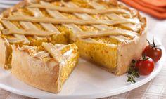 Torta cremosa de milho-verde