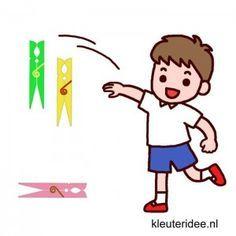 Gymles met wasknijpers voor kleuters, kleuteridee.nl