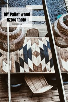 Use Pallet Wood Projects to Create Unique Home Decor Items – Hobby Is My Life Diy Pallet Projects, Wood Projects, Pallet Ideas, Wood Ideas, Unique Home Decor, Home Decor Items, Aztec Home Decor, Table Palette, Used Pallets