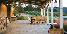 Pippin Hill Farm - Vineyard and Winery in Charlottesville, VA. Their pictures are gorgeous! Mountain views and elegantly rustic décor. With a gourmet restaurant on site! Who could ask for more?