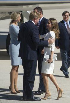 Princess Letizia - Dutch Royals Visit Torrejon Military Base