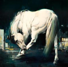 Caravaggio's Horse / 30″ x 30″ / Oil on linen - Scott Ewen