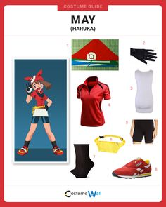 Dress like the popular ten-year-old Pokemon Coordinator, May (Haruka), who is determined to win Pokemon contests.