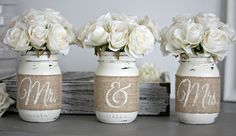 Rustic Wedding Table Decor - Love Live & Create-Furniture & Home Decor