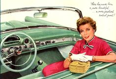 In its September 1955 issue, Motor Trend selected the Thunderbird as one of the six best-looking cars of 1955.  (And yes, women did wear gloves back then.)