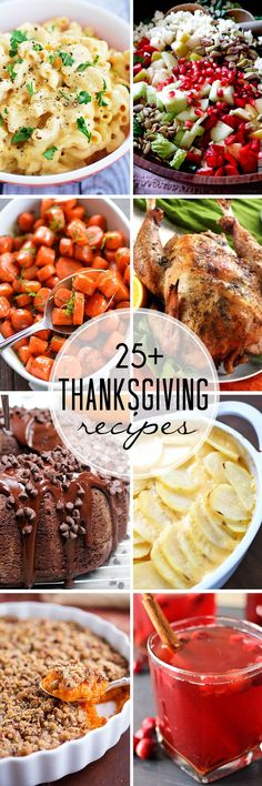 25+ Thanksgiving Recipes to get you ready for the big day! Everything from the…