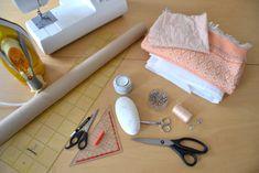 DIY Envelope Clutch Material und Werkzeug