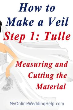 How to make a wedding veil step-by-step.measure and cut the material / tulle. Shows how to figure out where the veil will fall to on your body. (How To Make Dress Wedding) Veil Diy, Diy Wedding Veil, Wedding Bride, Wedding Ideas, Wedding Crafts, Budget Wedding, Wedding Dresses, Wedding Fun, Wedding Hair