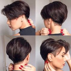The trendiest haircuts of 2020 Pixie Hairstyles, Tomboy Hairstyles, Undercut Hairstyles, Tomboy Haircut, Pixie Cut Mit Undercut, Short Hair Undercut, Undercut Girl, Haircut Short, Short Hair Cuts For Women