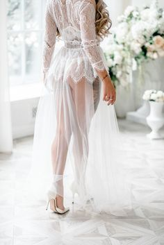 Boudoir dress bridal robe wedding robe lace womens robe getting ready robe bridal lingerie womens robe honeymoon lingerie Honeymoon Lingerie, Lingerie Shoot, Wedding Lingerie, Honeymoon Night, Wedding Robe, Wedding Boudoir, Wedding Tips, Budget Wedding, Wedding Gowns