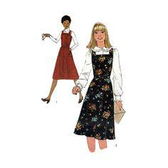 "Women's Jumper Sewing Pattern, Square Neckline Misses Size 14 Bust 36"" Uncut Vintage 1970's Simplicity 8118"