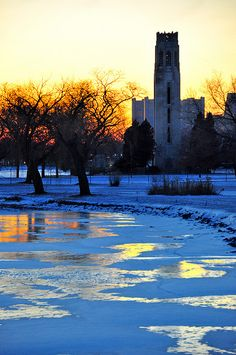 #WDET is loving the colors in this photo of a cold winter day on #Detroit's Belle Isle