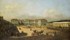 Bernardo Bellotto, known as Canaletto (Italian, 1722 - 1780), Schönbrunn from the Cour d'Honneur, ca. 1759–1761. Oil on canvas. Kunsthistorisches Museum, Vienna