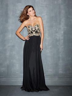 Elegant Sheath/Column Applique Sweetheart Sleeveless Floor-Length Chifon Dresses