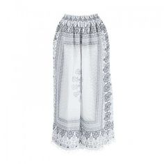 LONG TROUSERS IN WHITE-BLUE COLOR  LARGE (100% COTTON) Lace Skirt, Trousers, Shorts, Cotton, Blue, Clothes, Shopping, Collection, Fashion
