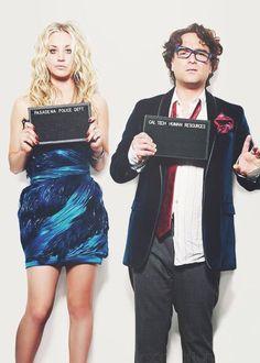 The big bang theory - Penny ( Kaley Cuoco ) and Leonard ( Johnny Galecki )