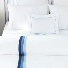 Paolo in duvet cover in navy blue.