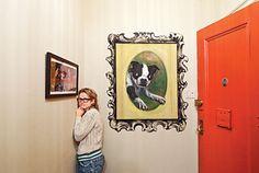 Extreme Homes of Amy Sedaris, Jason Oliver Nixon & Flock Wallpaper, Amy Sedaris, Antique Wax, My Furniture, Frames On Wall, Comedians, Design Elements, Love Her, Gallery Wall
