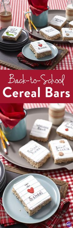 How to Make Back-to-School Cereal Bars - Start the school year off on a sweet note with an easy cereal treat that's sure to get the kids' attention. Use one of our fun messages or create your own, personalized with your prized pupil's name!