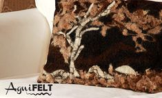 Felted decorative pillow of exclusive pillow is handicraft from Gotland wool…