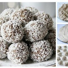 Kokosowe Rafaello bez cukru i tłuszczu   Składniki: (u mnie wyszło ponad 20 dość dużych kuleczek) - 1 duży dojrzały banan - 1 jajko, - 2 łyżki bardzo gęstego jogurtu naturalnego ( ewentualnie może być gęsta śmietana ), - 6 dużych łyżek płatków owsianych, - 2 łyżki likieru kokosowego ( - 100 g wiórek kokosowych, ( i dodatkowo jeszcze ok 30 g w miseczce ponieważ na końcu ulepione kulki jeszcze obtaczam we wiórkach ), - 2 łyżki mąki ziemniaczanej,