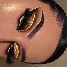 Dope Makeup, Baddie Makeup, Makeup Eye Looks, Eye Makeup Art, Crazy Makeup, Eyeshadow Makeup, Glam Makeup, Eyeshadows, Makeup Meme