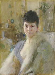 Portrait of a Lady in a Drawing Room by Anders Zorn.