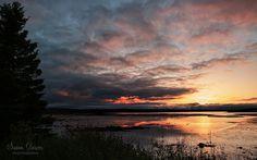 """A New Day Begins""  A beautiful sunrise from Trenton Bridge looking at Bar Harbor."