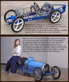 Just A Car Guy : Jim Wilson made incredibly good Bugatti type 35 pedal cars - Auto - Design de Carros e Motocicletas Soap Box Derby Cars, Soap Box Cars, Bugatti, Go Kart, Karts, Kids Ride On, Pedal Cars, Cars Auto, Buggy