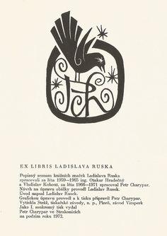 Grafika, exlibris | Ladislav Rusek - ex libris | grafika, ex libris, exlibris, antikvariát, knihy, bibliofilie, náku, prodej