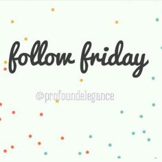 Happy Friday!! It's been an awesome first week of business. by profoundelegance