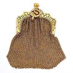 Victorian Era Antique Coin Purse, Solid and Gold Vintage Purses, Vintage Bags, Vintage Handbags, Beaded Purses, Beaded Bags, Beaded Clutch, Corsets, Fashion Bubbles, Silver Purses