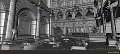 ArtStation - The Order: 1886 Mayfair Atrium Wireframe, David Budlong