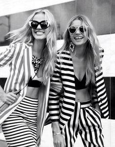 stripes on stripes on models. #earnyourstripes