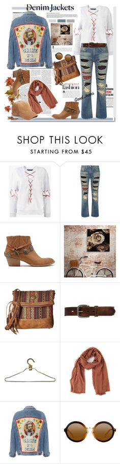 """""""The hottest classic  street style trend - jean jacket"""" by ellie366 ❤ liked on Polyvore featuring White Label, Filles à papa, Nicki Minaj, Junya Watanabe, Dolce Vita, American West, Bed