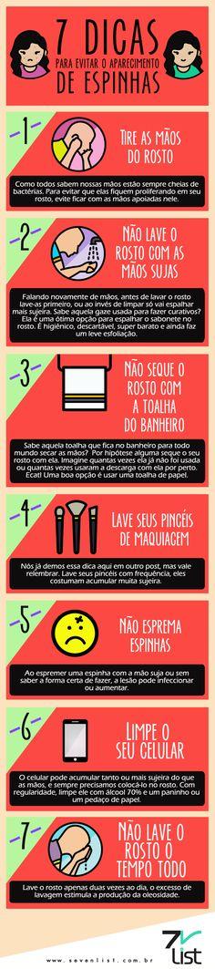 #Infográfico #Infographic #Design #Beleza #Dicas #Acne #Espinhas #Pele #Rosto #Mãossujas #Toalha #Banheiro #Pincéismaquiagem #Celularlimpo www.sevenlist.com.br