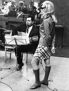 Stock Photo - Nancy Sinatra at a recording session, 1967 © JRC /The Hollywood Archive - All Rights Reserved File Reference # 32368 Matisse, Nancy Sinatra, Girls Slip, Sixties Fashion, Famous Girls, I Love Girls, Girl Pictures, Vintage Fashion, Vintage Style