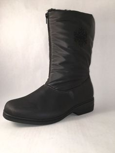 Snowflake Snow Boot by Comfortview Black Women's Size 9.5 NWOT #Comfortview #SnowWinterBoots #WalkingHiking