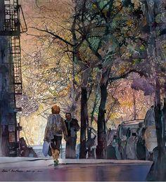 """John T. Salminen (American, born 1945)  ~ """"Washington Heights"""""""
