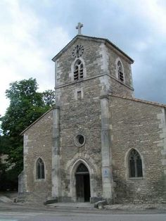 The village cathedral in the village of Domremy, France.  This is the same cathedral that Joan of Arc worshiped in.