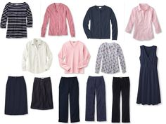 Transition:  Whatever's Clean in Navy and Pink