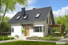 Projekt domu AC Lea (wersja B) CE - DOM - gotowy koszt budowy Casa Lea, Bungalow Renovation, Small House Design, Design Case, Ground Floor, Steel Frame, Exterior Design, Home Projects, Future House