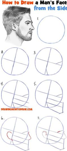 drawing tutorial face - drawing tutorial + drawing tutorial step by step + drawing tutorial for beginners + drawing tutorial easy + drawing tutorial face + drawing tutorials for kids + drawing tutorial videos + drawing tutorial step by step easy Drawing Heads, Guy Drawing, Drawing Tips, Drawing Process, Side Face Drawing, Face Profile Drawing, Learn Drawing, Sketch Drawing, Learn Sketching