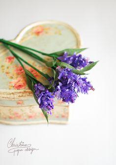 DIY paper flowers - paper lavender.