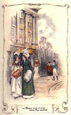 """""""Always arm-in-arm when they walked."""" Northanger Abbey, Jane Austen"""